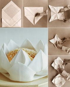 10 pliages de serviettes faciles pour une table de fête impressionnante et inoubliable #wedding #serviettepapier #lys #napkinfolding #rose #mariage #feuille #déco #plier #origami #noël #tissu #10idées Origami, Decoration, Napkin Rings, Napkins, Gift Wrapping, Gifts, Wedding, Chic, Home Decor