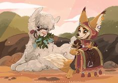 """🦊🦙🌿 Little curly alpaca :D Warcraft Art, World Of Warcraft, Tomb Raider Cosplay, Fantasy Art Landscapes, Wow Art, Comic Games, Character Design, Character Ideas, Character Inspiration"