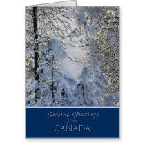 Christmas from Canada card