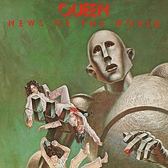 ☮ American Hippie Psychedelic Rock Music Album Cover Art ~ Queen - News of the World (CD Cover)