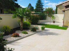 Modern landscape front yard entrance driveways 57 Ideas - All For Garden Front Porch Landscape, Landscape Stairs, Pool Landscape Design, Landscape Edging, Front Yard Landscaping, Garden Design, Tropical Landscaping, Modern Landscaping, Tropical Garden