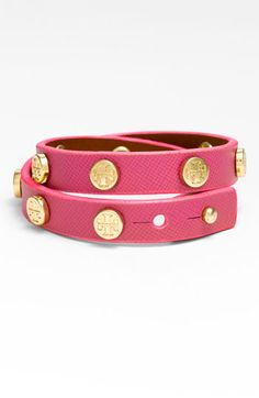 love this Tory Burch double wrap leather bracelet! cute for the spring/summer!