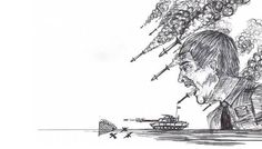 http://www.thesketchpadgallery.com/ #sketchpad #gallery #war #angry #sketch #rockets #missiles #tank