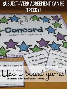 Grammar is more than just a worksheet!  Board games are interactive and lots of fun.  - Learning with Sunflower Smiles