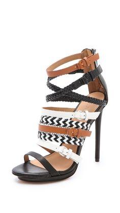 Jessie Strappy Sandals in Black (camel) - Lyst Shoe Boots, Shoes Heels, Pumps, Mode Shoes, Estilo Fashion, Dream Shoes, Strappy Sandals, Beautiful Shoes, Designer Shoes