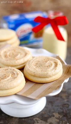 {eggnog sugar cookies} christmas dessert
