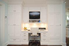 fab workstation/built-ins/tv off kitchen