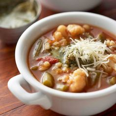Italian Vegetable Soup  Purchased pesto adds zip to this veggie-barley slow-cooked soup. Serve with a sandwich for a light meal.