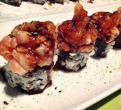 Hokkai maki - salmon tartar with tempura