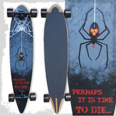 Time To Die #Pintail #Longboard from #APSk8Art for $220.00 on Square Market