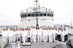 Los Reyes Felipe VI y Juan Carlos I asistieron en Pontevedra al acto conmemorativo de los 300 años de la creación de la Compañía de Guardias Marinas en la Escuela Naval de Marín