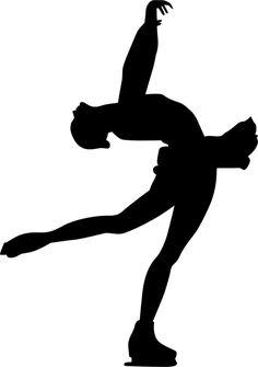 Figure Skating stencil for tween room