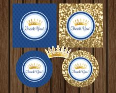 Our blue and gold Prince favor tag is a great addition to your prince baby shower or birthday party! It features a gold crown along with blue and gold colors.It is sure to impress your guests! Additional matching elements are also available. In this listing, you will receive digital