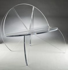 Transparent Butterfly Chair from Laurie Beckerman / acrilic #Termoconformat