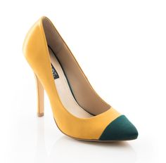 Adrienne - Color block pumps.