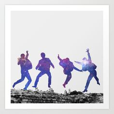 The Beatles Art Print by Wizard No Heart - $16.00