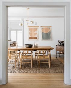 Madera Oak Dining Table For 6 Oak Dining Table, Dining Room Design, Modern Dining Table, Dining Room Inspiration, Wooden Dining Tables, Dining Room Decor, Home Decor, House Interior, Modern Dining Room
