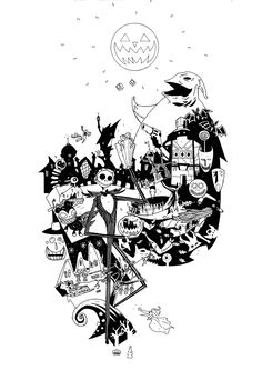 Nightmare Before Christmas Images Black And White.Pinterest