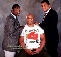 Brother Blaccspider — Joe Frazier George Foreman and Muhammad Ali. Karate, Mike Tyson, Kickboxing, Hana Ali, Ufc, Mohamed Ali, Boxing History, Float Like A Butterfly, Boxing Champions