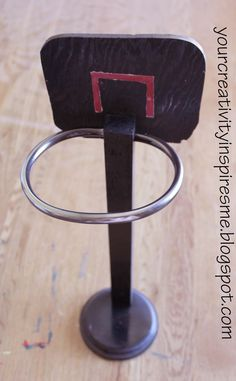 Doll Basketball Hoop from Your Creativity Inspires Me #AmericanGirlDoll #Craft