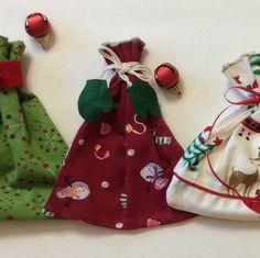 Plaid Rustic Gift Bags - Christmas Fabric Gift Bags - Fabric Gift ...