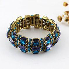 2014 Neuste Komisch Fashion Farbigen Rheinstein Elegant Elastisch Armband | Your #1 Source for Jewelry and Accessories