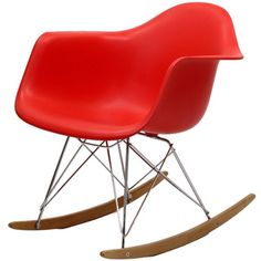 @Overstock - Not Grandma's rocking chair, this mid-century retro modern rocker, has the avant garde style of today that adds pizzazz to your room. http://www.overstock.com/Home-Garden/Red-Molded-Plastic-Armchair-Rocker-in-Red/6673025/product.html?CID=214117 $149.99      I WANT THIS CHAIR!!!!