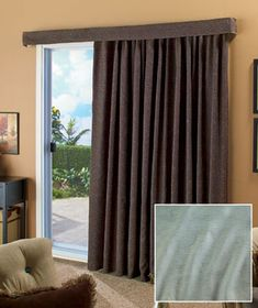 Patio curtain instead of vertical blinds
