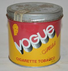 Vintage Rare Vogue MILD Cigarette Tobacco TIN CAN French English Advertising | eBay