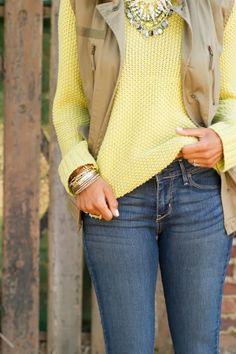 Beautiful Color Combo Sweater And Sleeveless Jacket