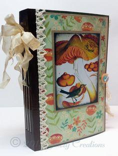 Handmade Junk Journal, Writing Journal, Diary, Vintage Junk Journal, Hand Dyed, File Folder Journal