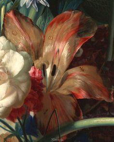 Jan van Huysum (Dutch, 1682 - 1749) Bouquet of Flowers in a Terracotta Vase (detail) 1722 oil on panel, 803 mm x 610 mm The J. Paul Getty Museum