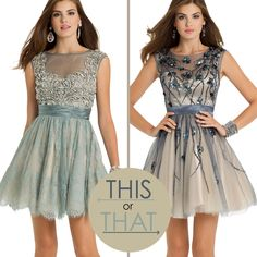 Camille La Vie Short Homecoming Dresses in beautiful A-line skirt styles. These looks can also work for Guest of Wedding too