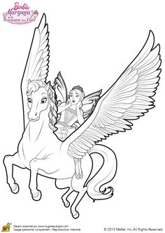 Ausmalbild einhorn mit fee 01 ausmalbilder - Coloriage barbie fee ...