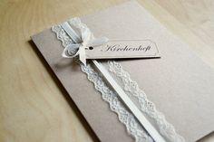 Einladungskarten - Kirchenhefte & Freudentränentaschentücher v... - ein Designerstück von Velvet-Design bei DaWanda