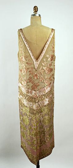 Evening dress (image 2 - back) | Callot Soeurs | French | 1920s | silk, metallic | Metropolitan Museum of Art | Accession Number: C.I.52.19.2