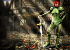 Eternal by LeAndra Dawn - 2D & 3D Digital Art Illustration created with Daz Studio, Poser and Photoshop | everquest fantasy rpg game green armor cleric |