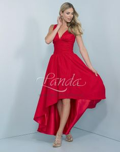 Great Hi-Low gown, has straps.