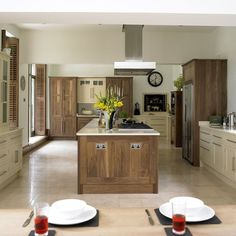 Wood and cream kitchen | Kitchens | Design ideas | Image | Housetohome two tone