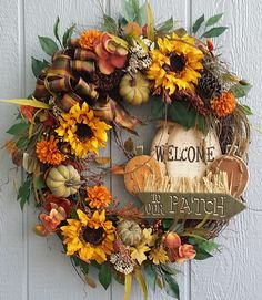 Large Fall Wreath Fall Grapevine Wreath by TheChicyShackWreaths