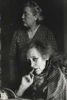 1952. Colette and her Housekeeper, Paris by Henri Cartier-Bresson