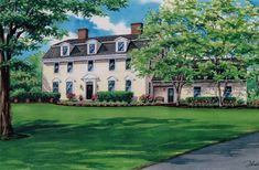 x watercolor painting of large frame residence in Port Matilda, Pennsylvania. Created by Custom House Portraits by Richelle Flecke Watercolor Portraits, Watercolor Paintings, Boarding House, Large Frames, American Revolution, Portsmouth, Historic Homes, Traditional House, Matilda