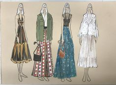 Painting & Drawing, Artworks, Summer Dresses, Illustration, Collection, Fashion, Moda, Summer Sundresses, Fashion Styles