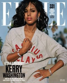 Kerry Washington is Looking Hot for Elle Magazines April 2016 Issue