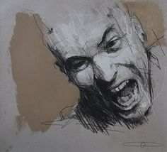2010 Guy Denning (English self taught contemporary artist/painter based in France. He is the founder of The Neomodern Group and part of the urban art scene in Bristol. Life Drawing, Figure Drawing, Drawing Sketches, Painting & Drawing, Art Drawings, Sketchbook Inspiration, Art Sketchbook, Portrait Art, Portraits