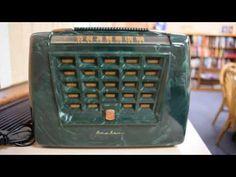 *American*Radio*Design* - Greg Mercurio - Deco-Mid Century, Retro Styled Vintage Tube Radios   : Airline Montgomery Ward Portable Radio Model 15GSE...