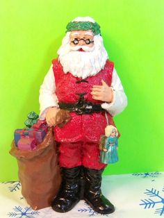Hippie Santa Claus Collectible Resin Christmas Figurine | eBay