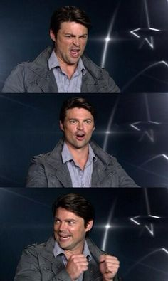 Top image I Know is Karl urban speaking about the chess tournaments between him Anton And Bruce
