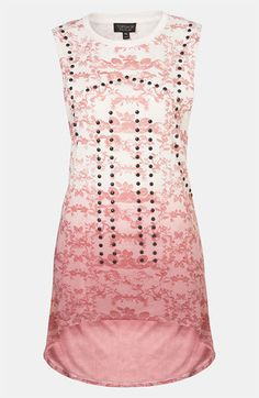 Topshop Studded Dip Dye Chinoiserie Tunic #Nordstrom #britishstyle