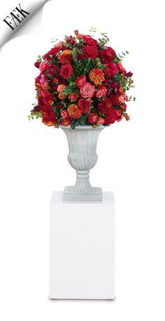Flowers Moulin Rouge Medium Artikelnummer: 7041 Fake flowers - red orange- artificiële bloemen - rood oranje - rental - huren verhuur - events - evenementen - party - feest